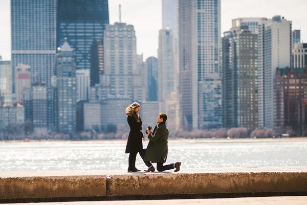 Chicago Marriage Proposal Photos // Justin + Basia