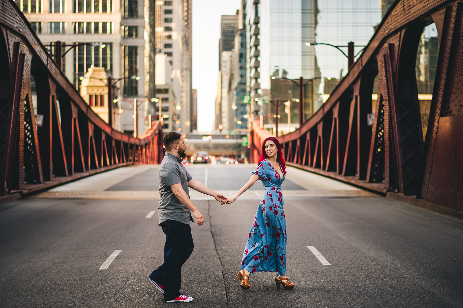 02 chicago wes anderson engagement photos - Wes Anderson Chicago Engagement Session / Tam + Rob