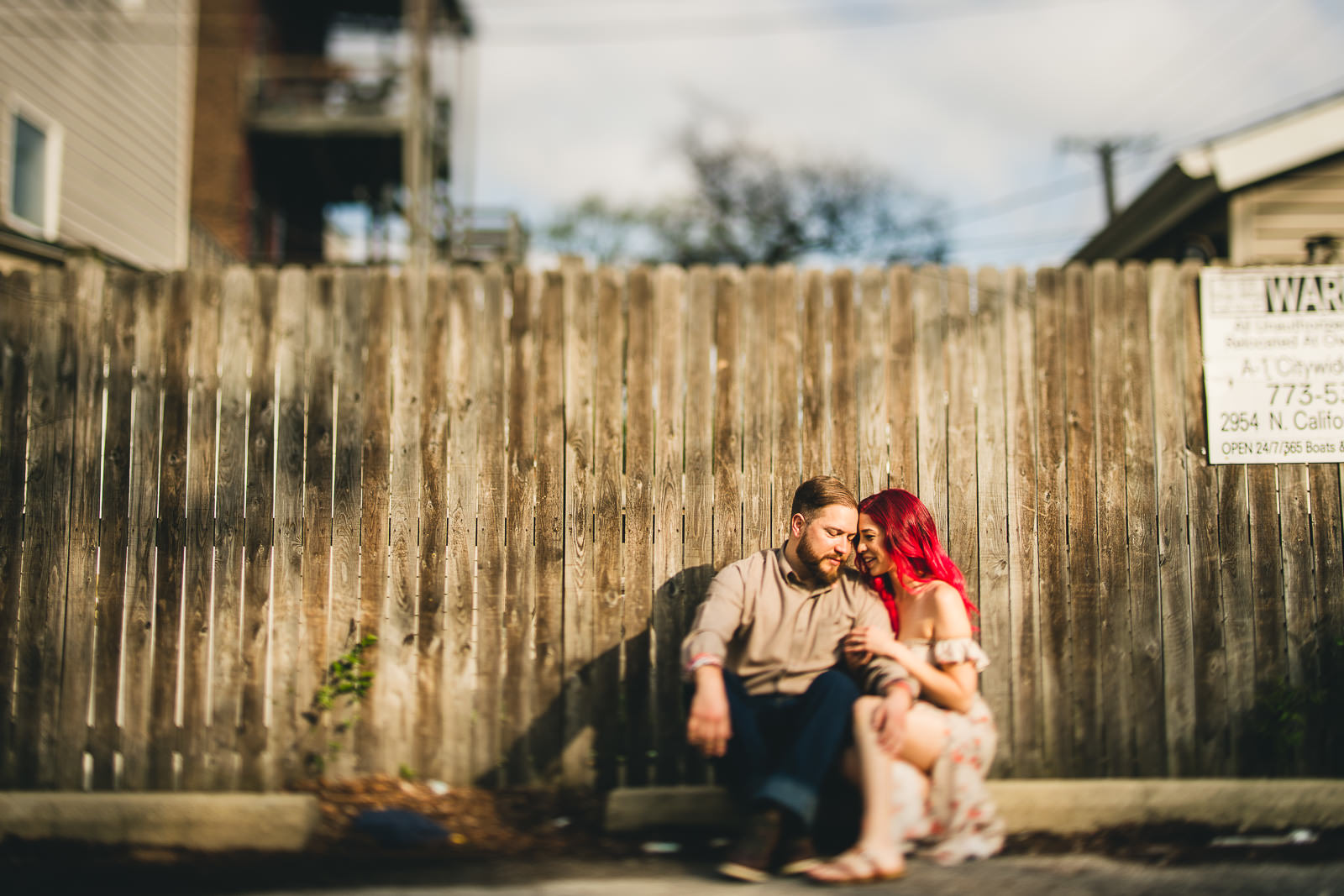 06 best wicker park engagement photos - Wes Anderson Chicago Engagement Session / Tam + Rob