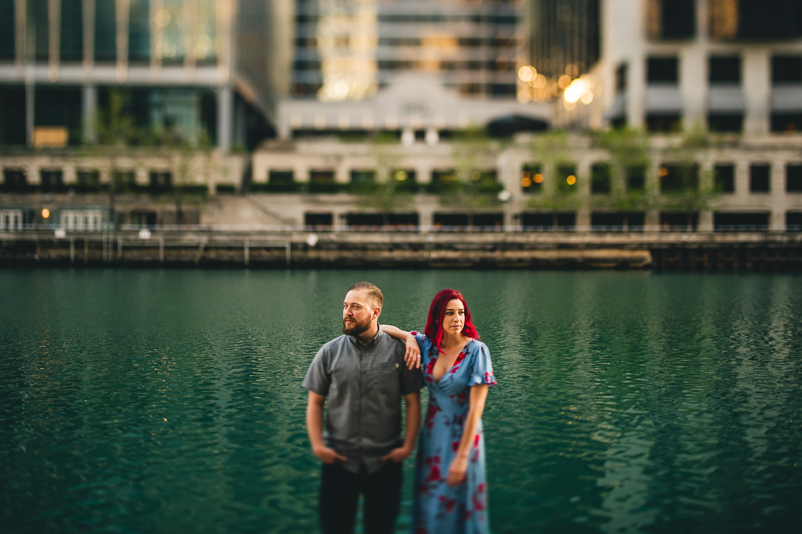 18 wes anderson on the river - Wes Anderson Chicago Engagement Session / Tam + Rob
