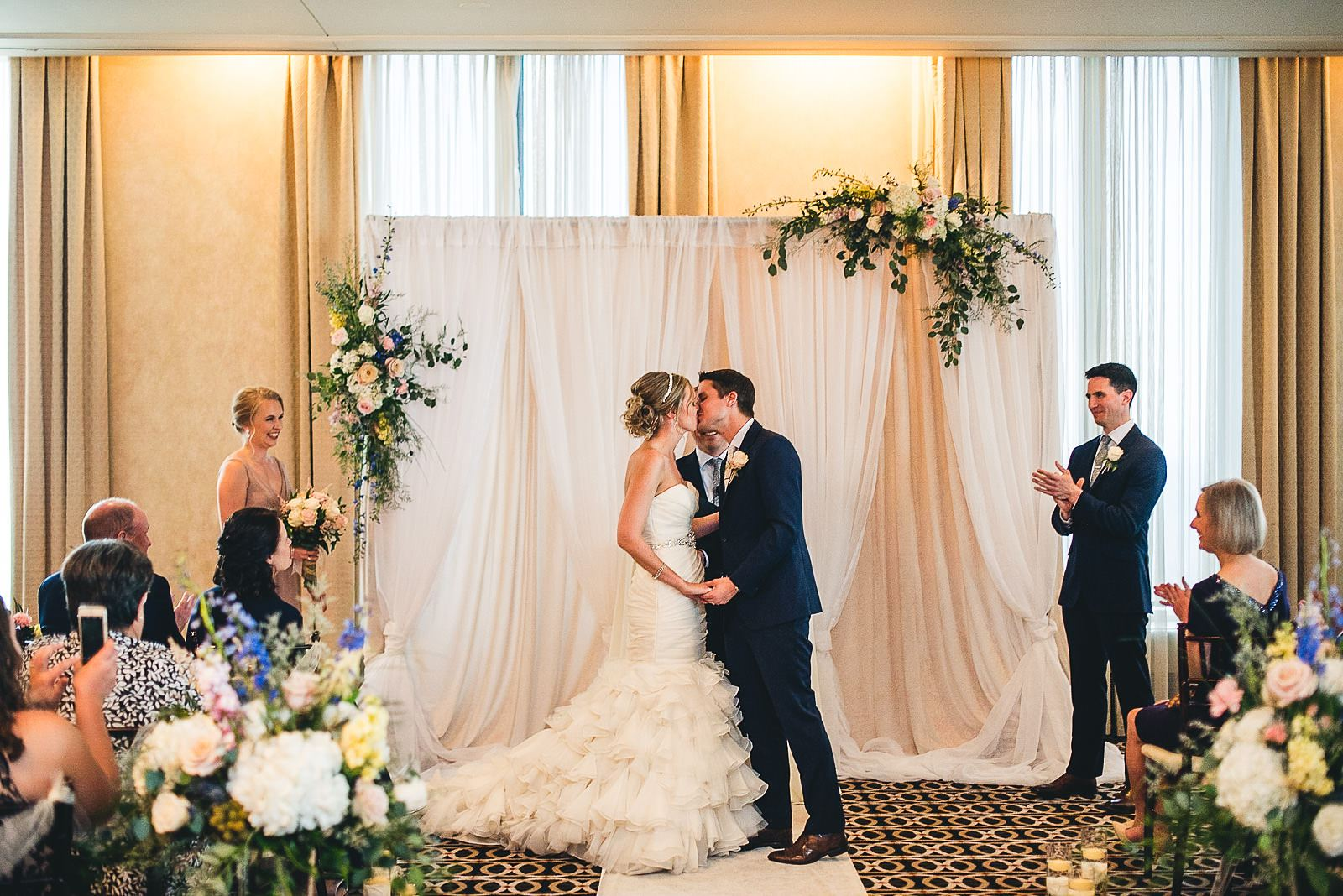 43 first kiss at mid america club wedding - Mid America Club Wedding Photography / Hannah + Jay