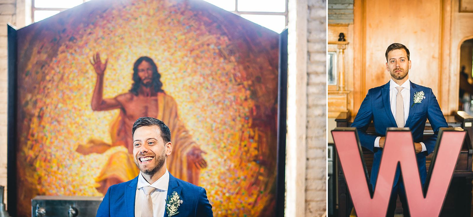 11 groom jesus - Salvage One Wedding // Pearl + Ken