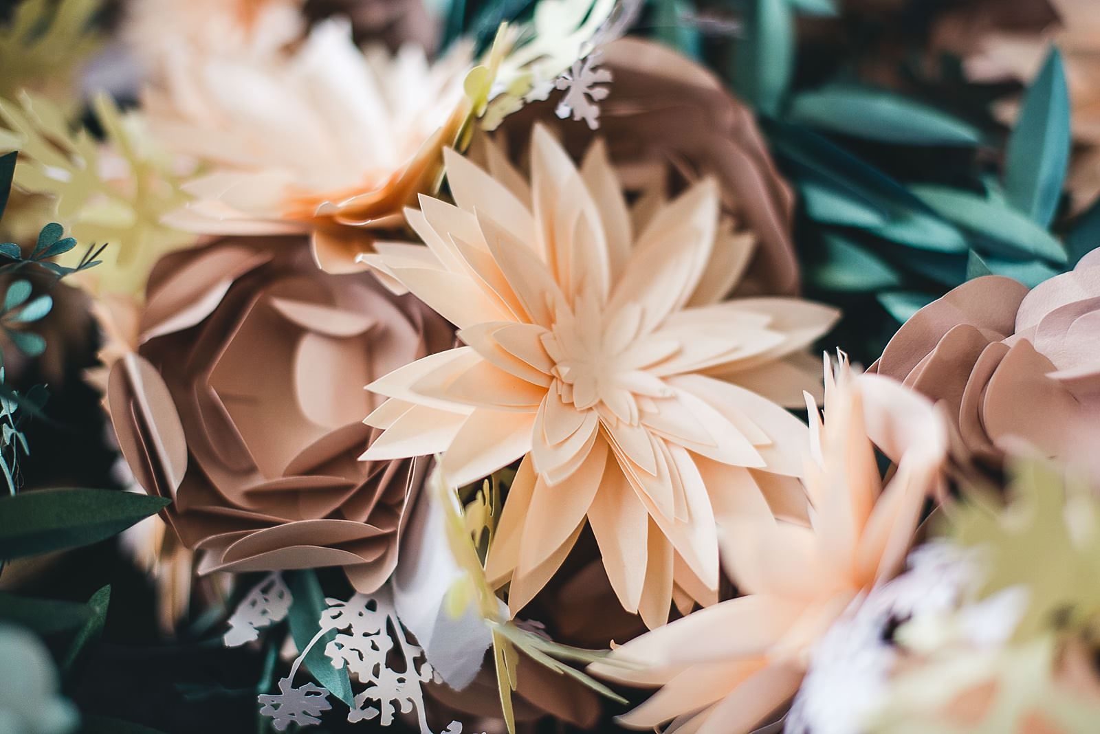 37 the bride made these paper flowers - Salvage One Wedding // Pearl + Ken