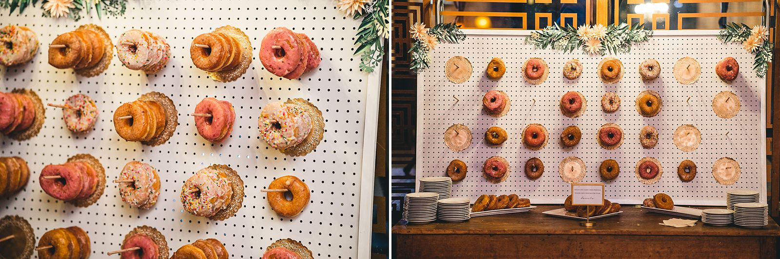 38 donut wall - Salvage One Wedding // Pearl + Ken