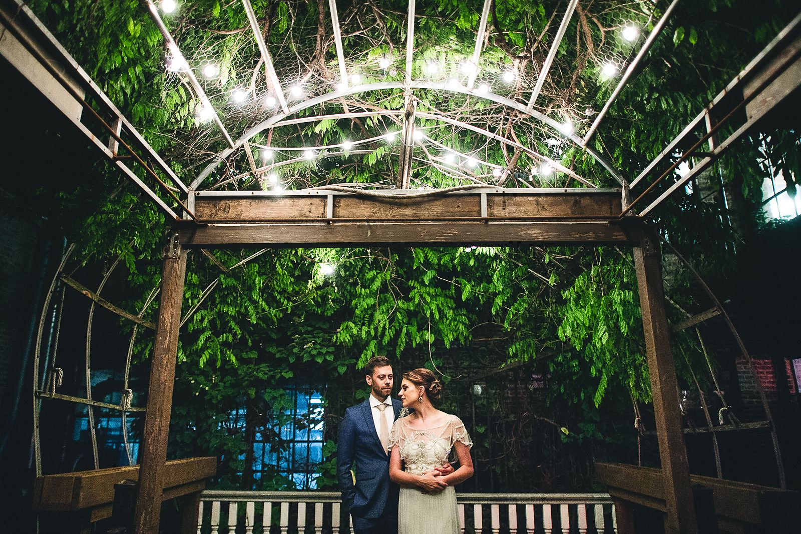 60 night portraits at garden of salvage one - Salvage One Wedding // Pearl + Ken