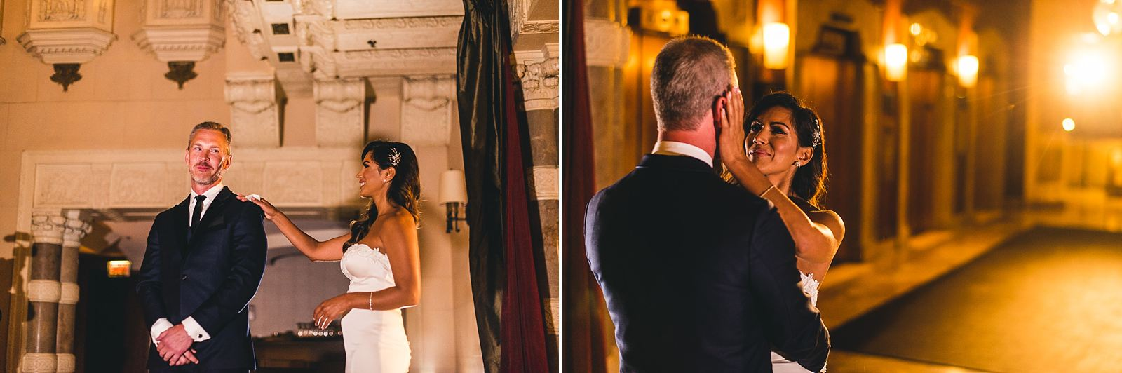 11 first look in chicago hotel - Intercontinental Chicago Hotel Wedding // Lili + Danny