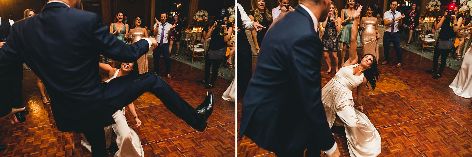 57 kicked in the head during dancing - Intercontinental Chicago Hotel Wedding // Lili + Danny