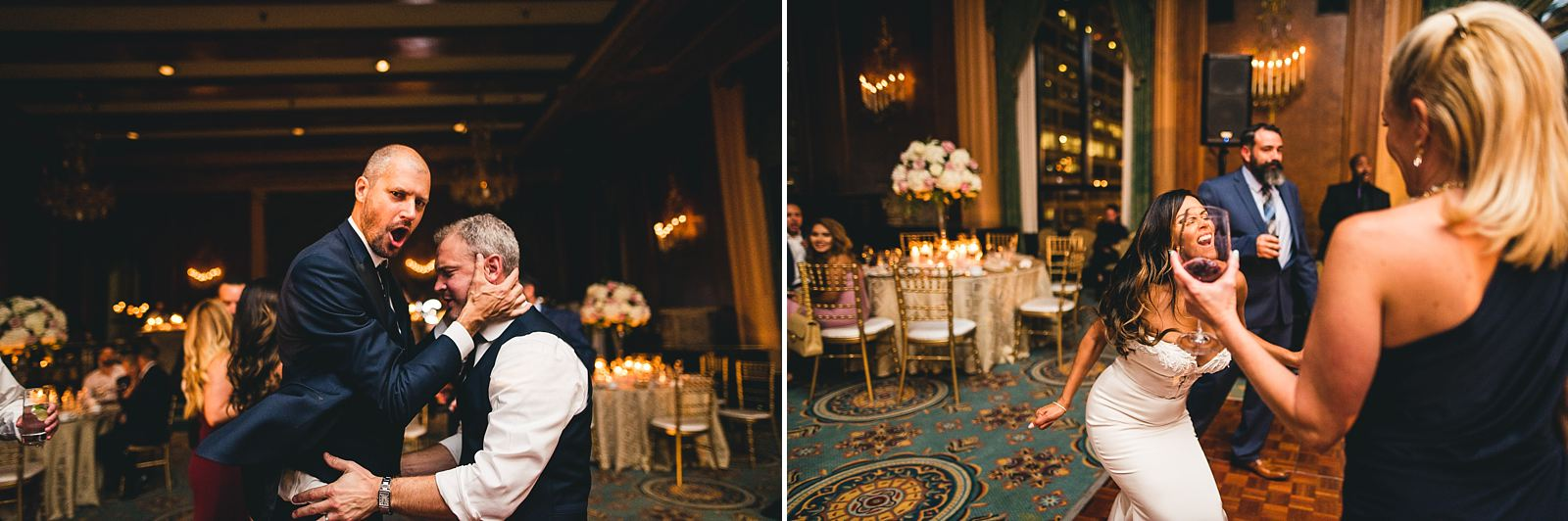 59 chicago reception photography fun - Intercontinental Chicago Hotel Wedding // Lili + Danny