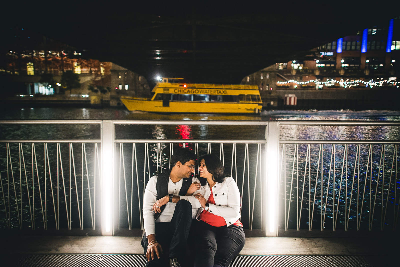 01 chicago riverwalk engagement photos - Downtown Chicago Engagement Session // Mikita + Singh