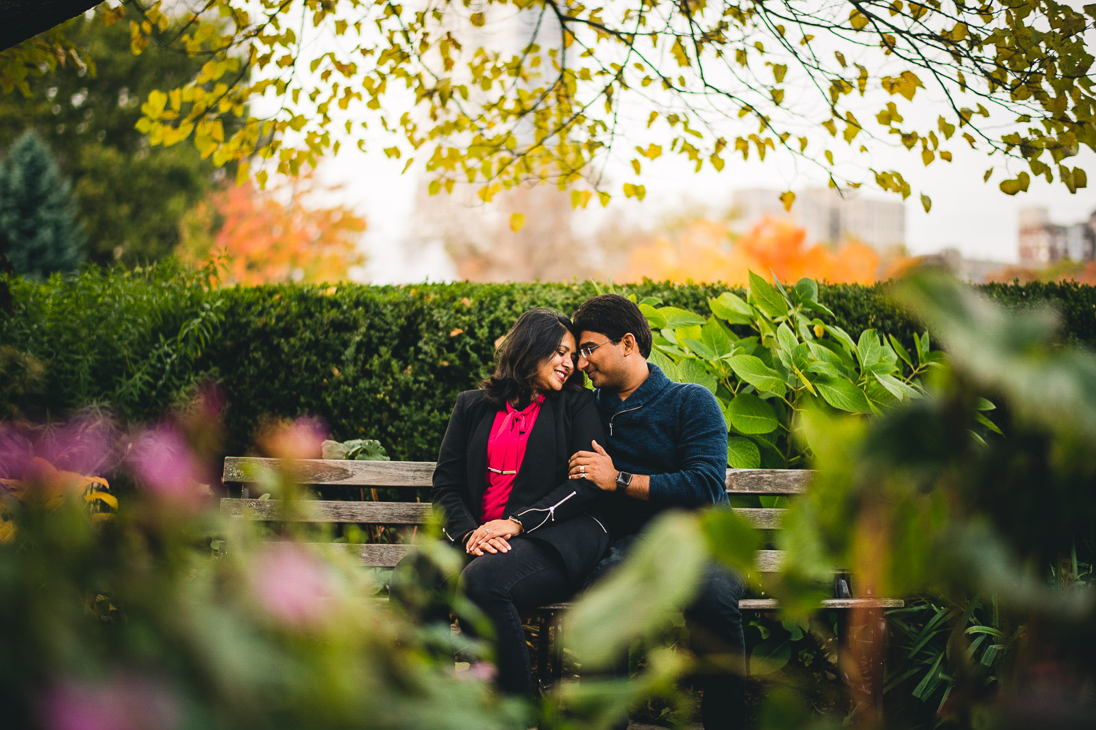 08 creative engagement photos - Downtown Chicago Engagement Session // Mikita + Singh