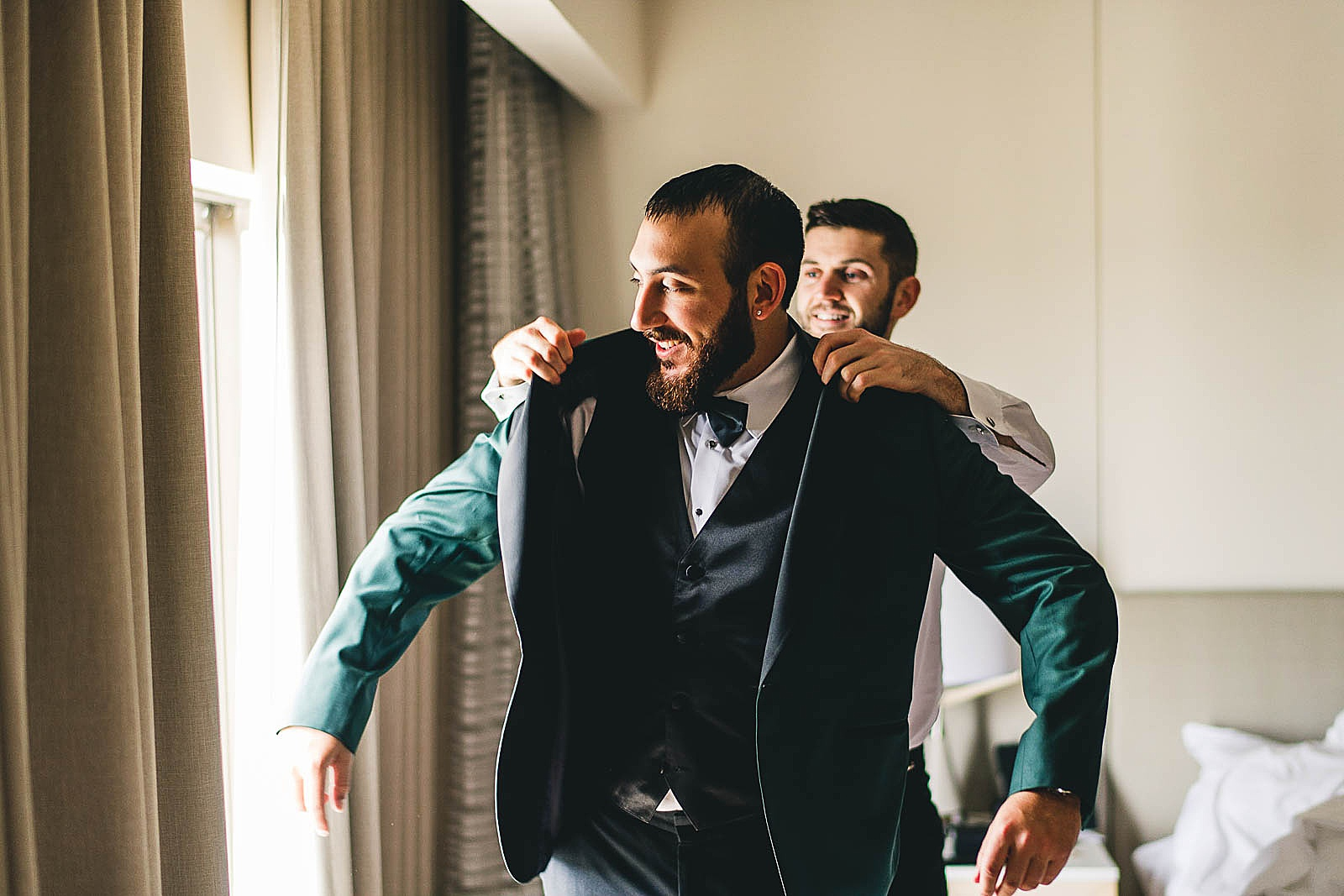 08 groom and best man dressed - Ivy Room Chicago Wedding Photos // Bethany + Anthony