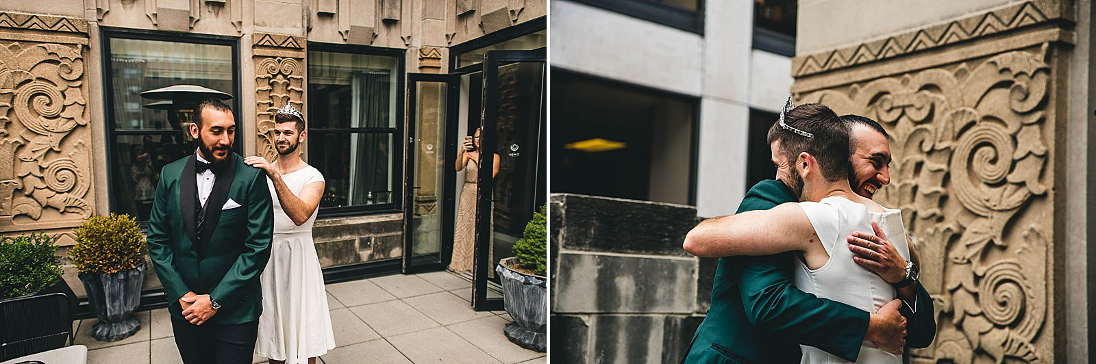 12 fake first look - Ivy Room Chicago Wedding Photos // Bethany + Anthony