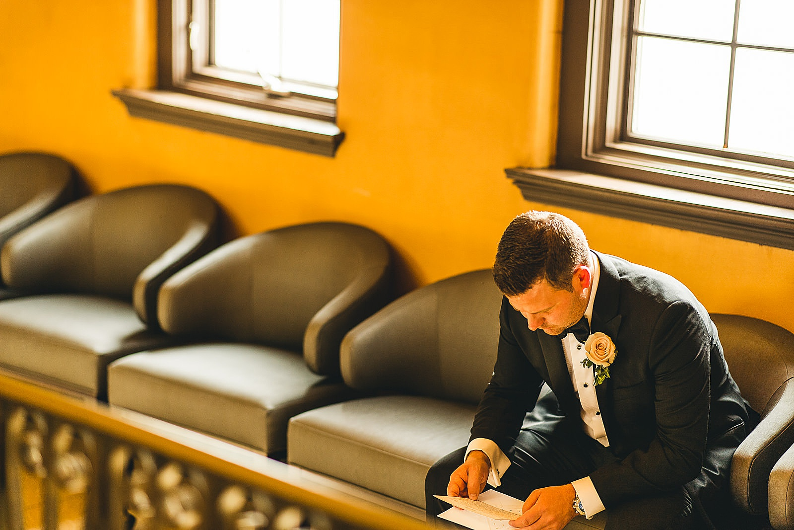 13 groom reading letter