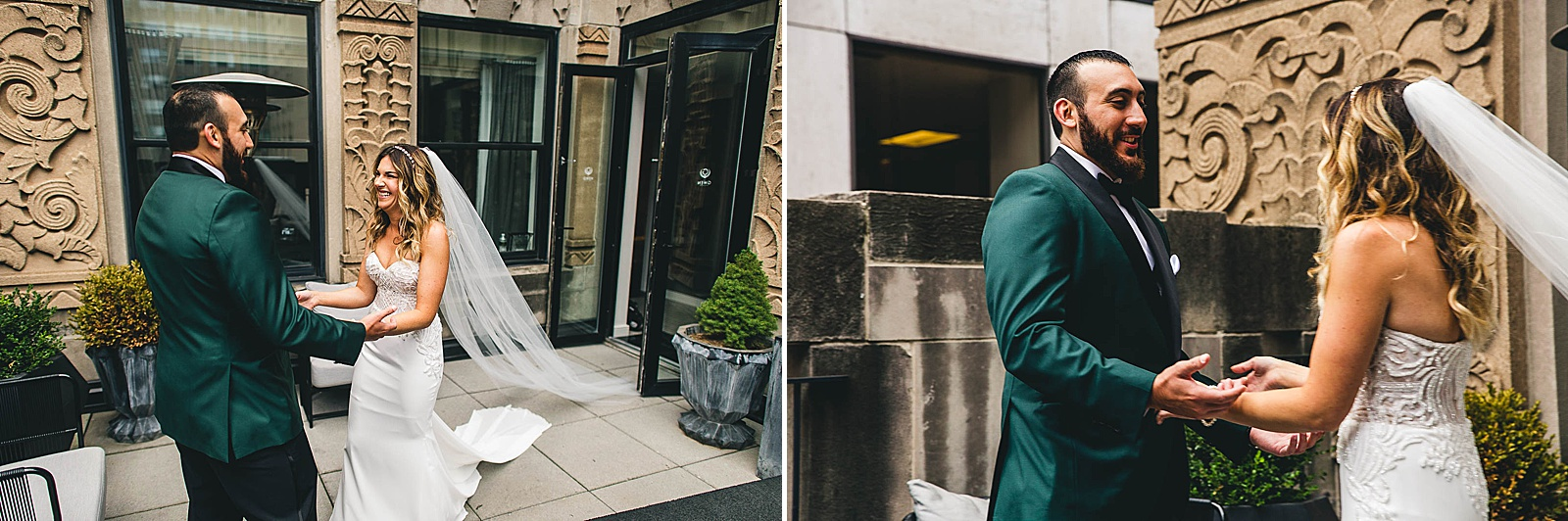 14 first look at gwen photos - Ivy Room Chicago Wedding Photos // Bethany + Anthony