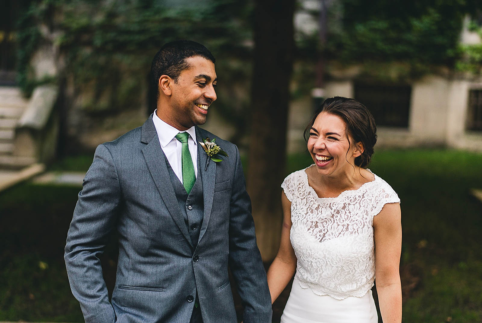 20 laughing wedding photos - Wedding at Bridgeport Art Center // Kylie + Sean