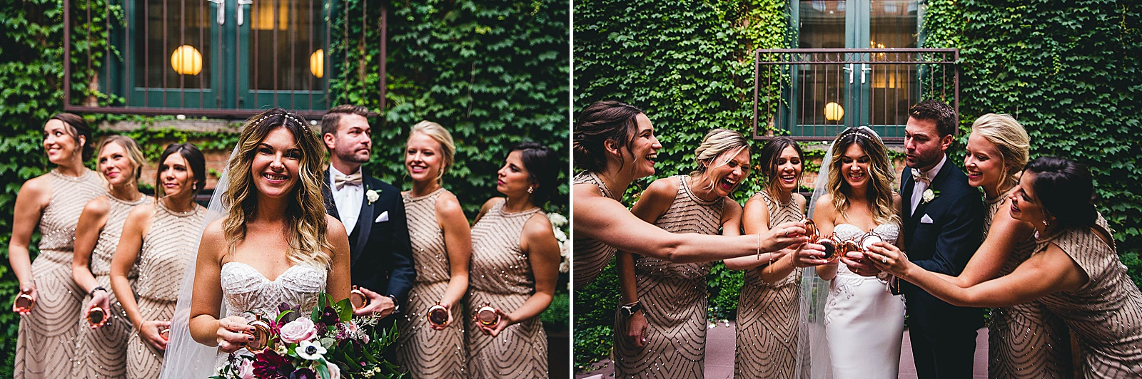 40 fun bridal party photos - Ivy Room Chicago Wedding Photos // Bethany + Anthony