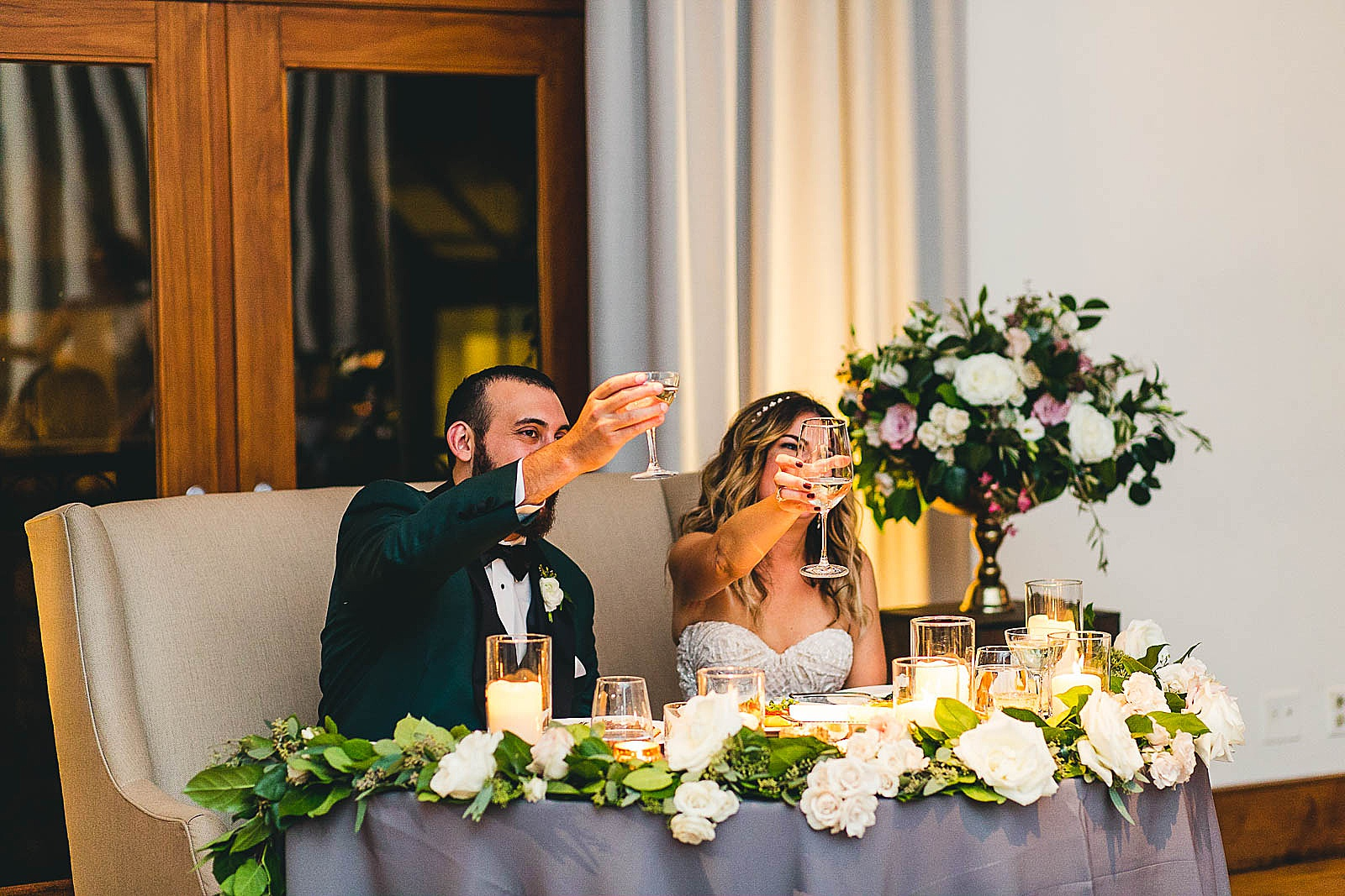 54 toasts at ivy room in chicago - Ivy Room Chicago Wedding Photos // Bethany + Anthony