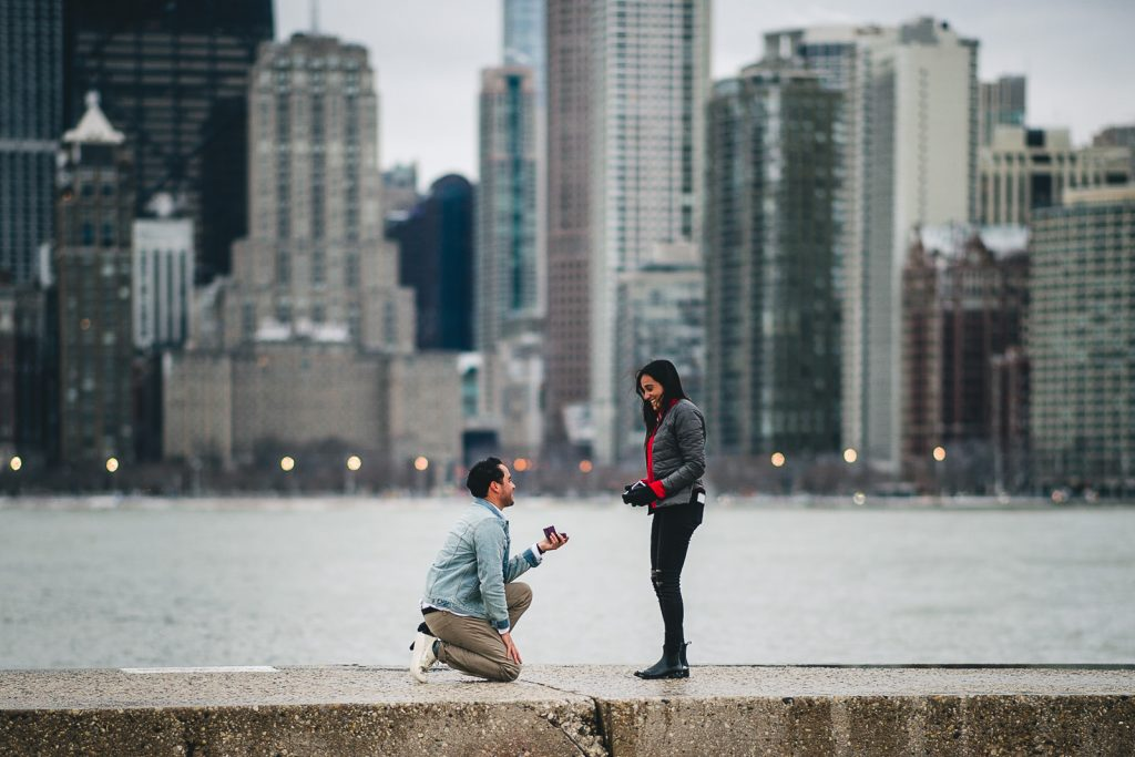 Chicago Proposal Photographer // Jose + Anna