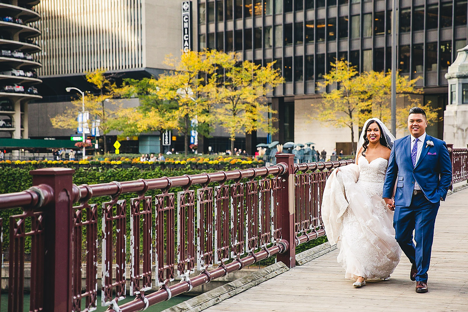 34 chicago bridges wedding couple - LondonHouse Wedding Photos // Mari + Kevin
