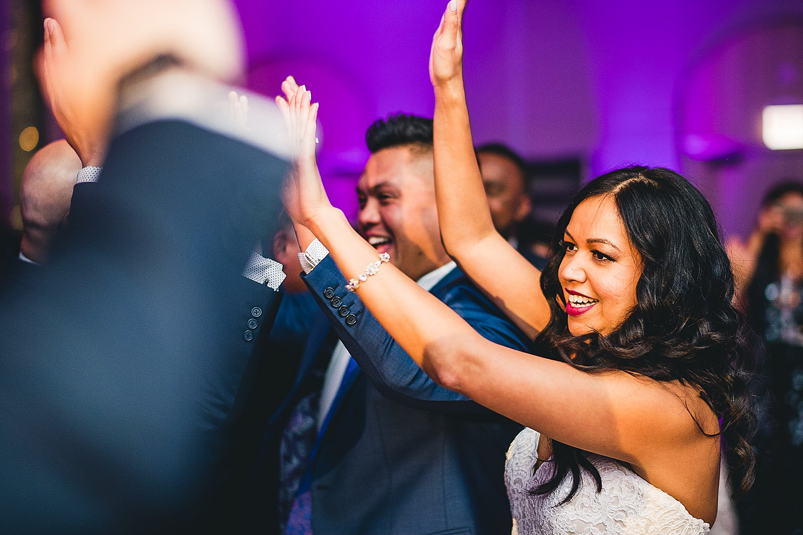 52 high fives - LondonHouse Wedding Photos // Mari + Kevin