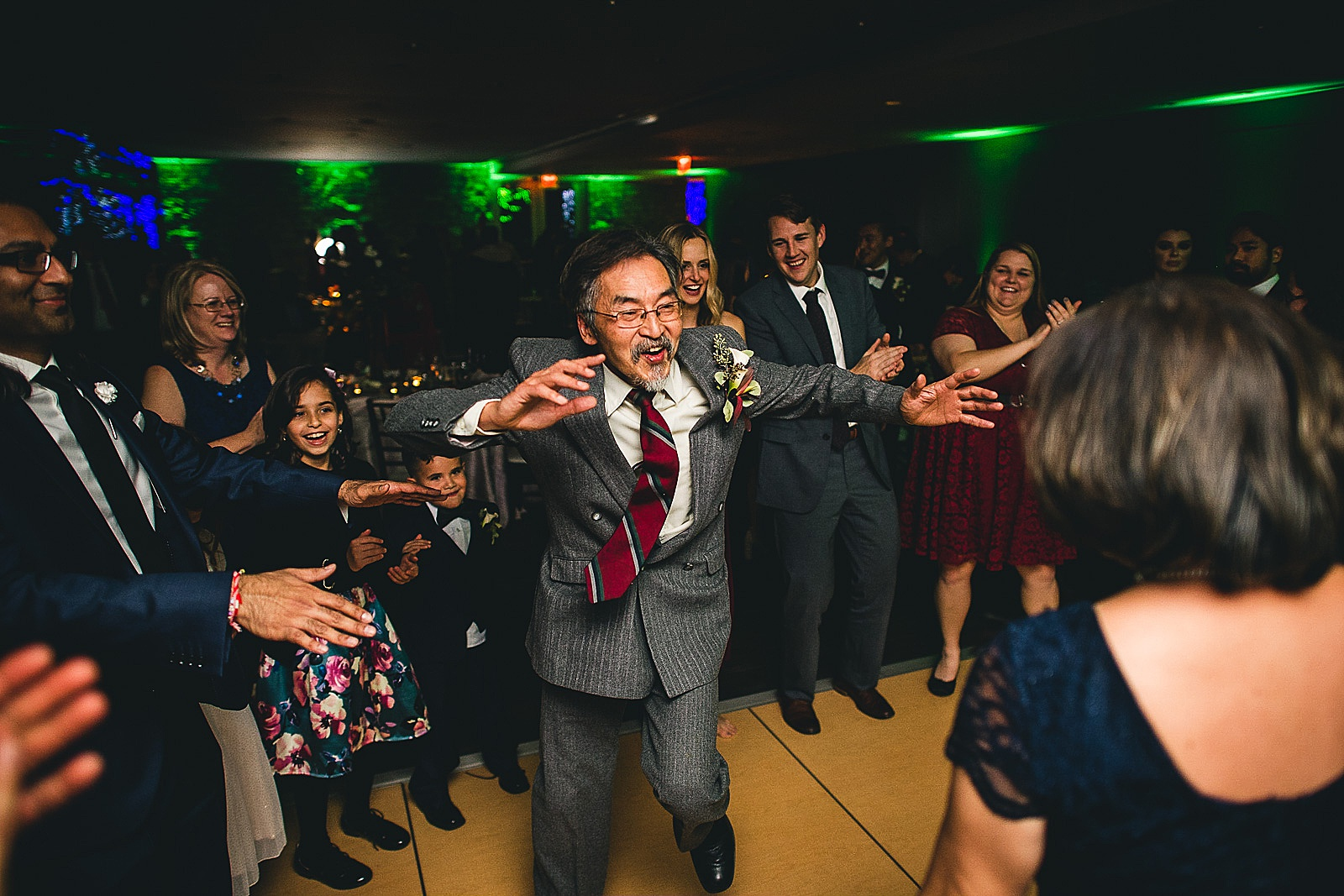 26 dad dancing - Chicago Wedding Photography at Morton Arboretum // Alex + Tim