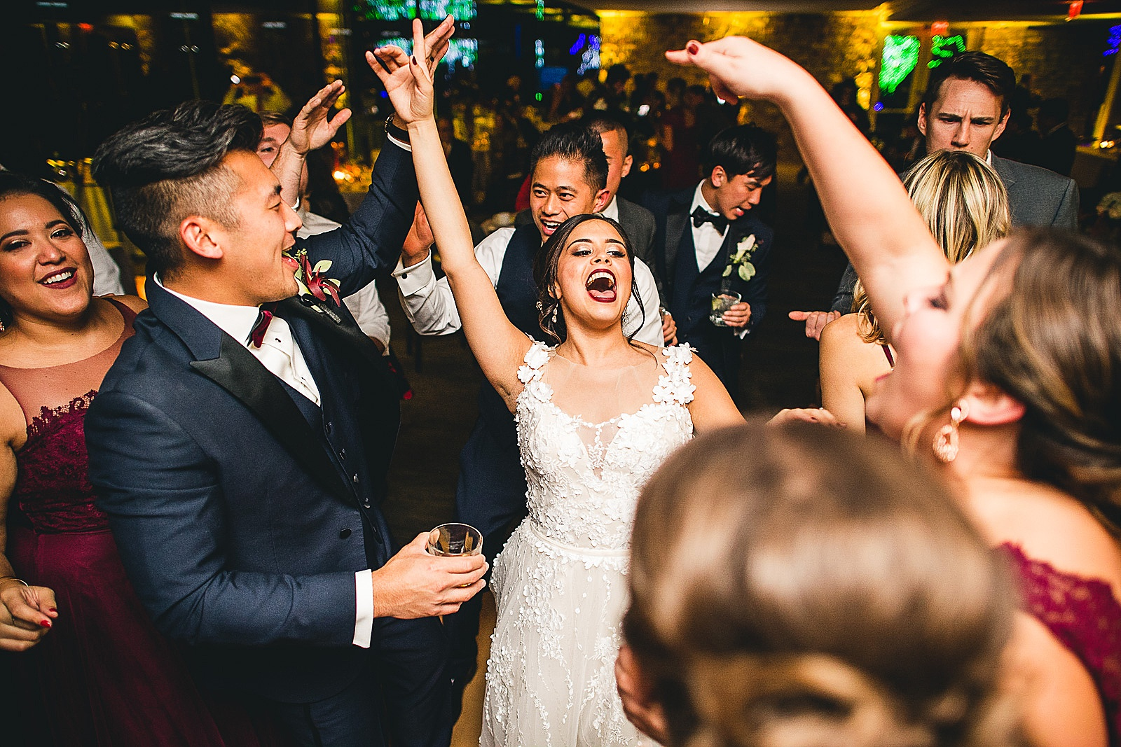 29 bride dancing at reception - Chicago Wedding Photography at Morton Arboretum // Alex + Tim