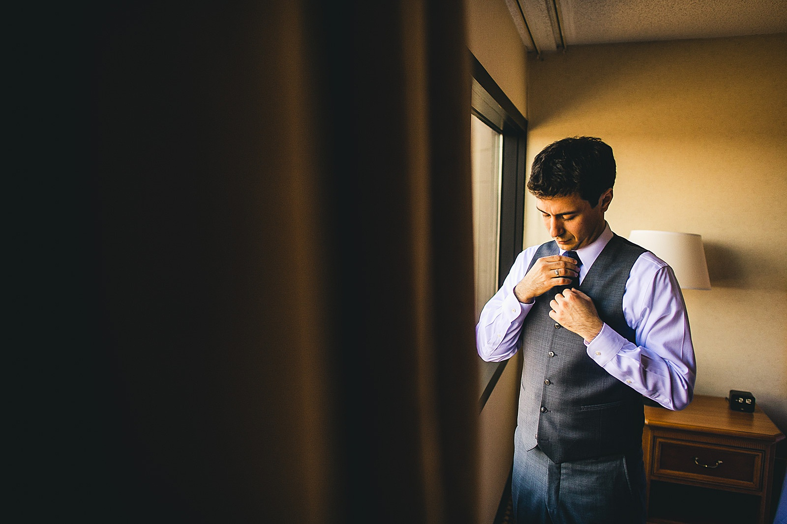 03 groom getting ready at drury lane - Oakbrook Wedding Photos at Drury Lane // Marina + Joe