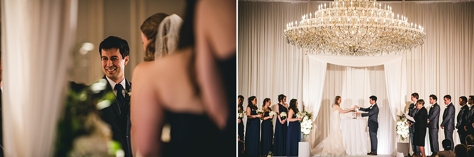 28 wedding ceremony photos - Oakbrook Wedding Photos at Drury Lane // Marina + Joe