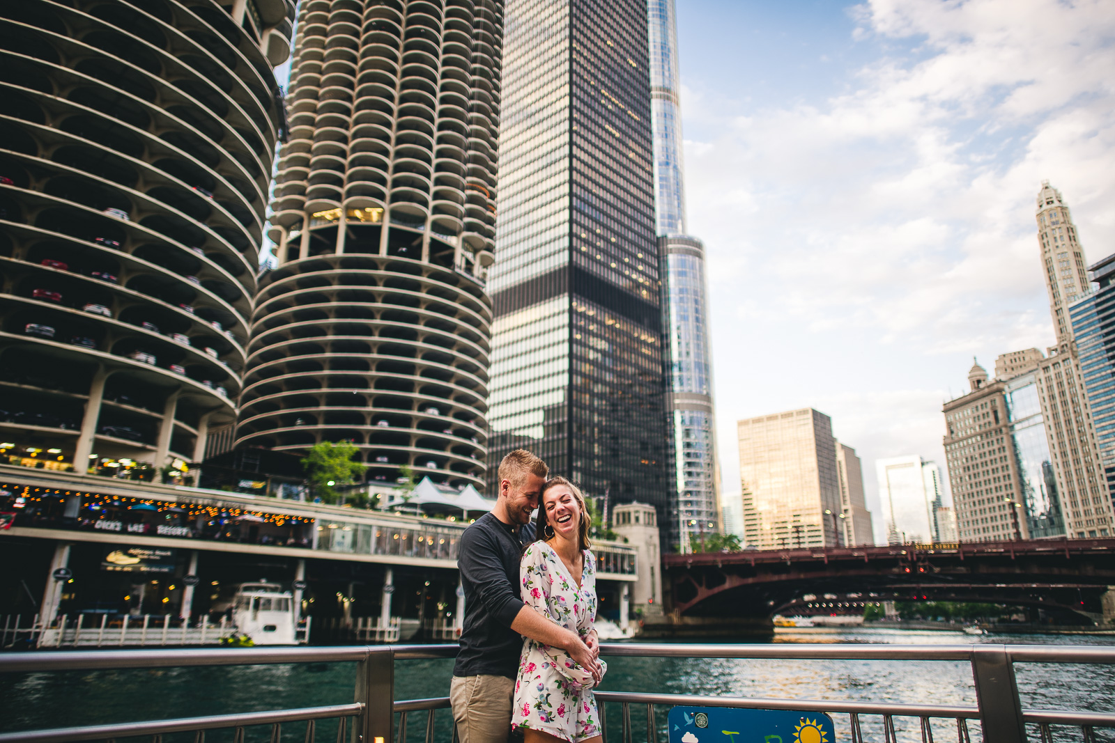 08 chicago bridges engagement photos - Chicago Engagement Session with Cindy + Scott