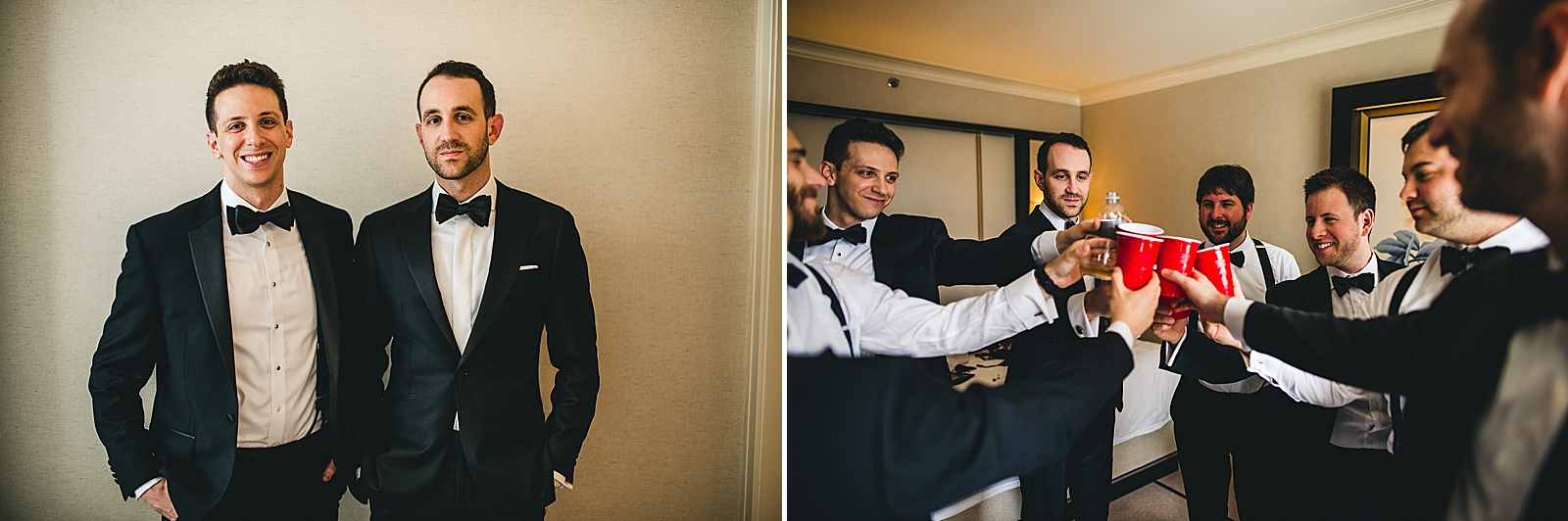 14 fun groomsmen - Susie + Eric's Jewish Wedding at the Peninsula Hotel in Chicago