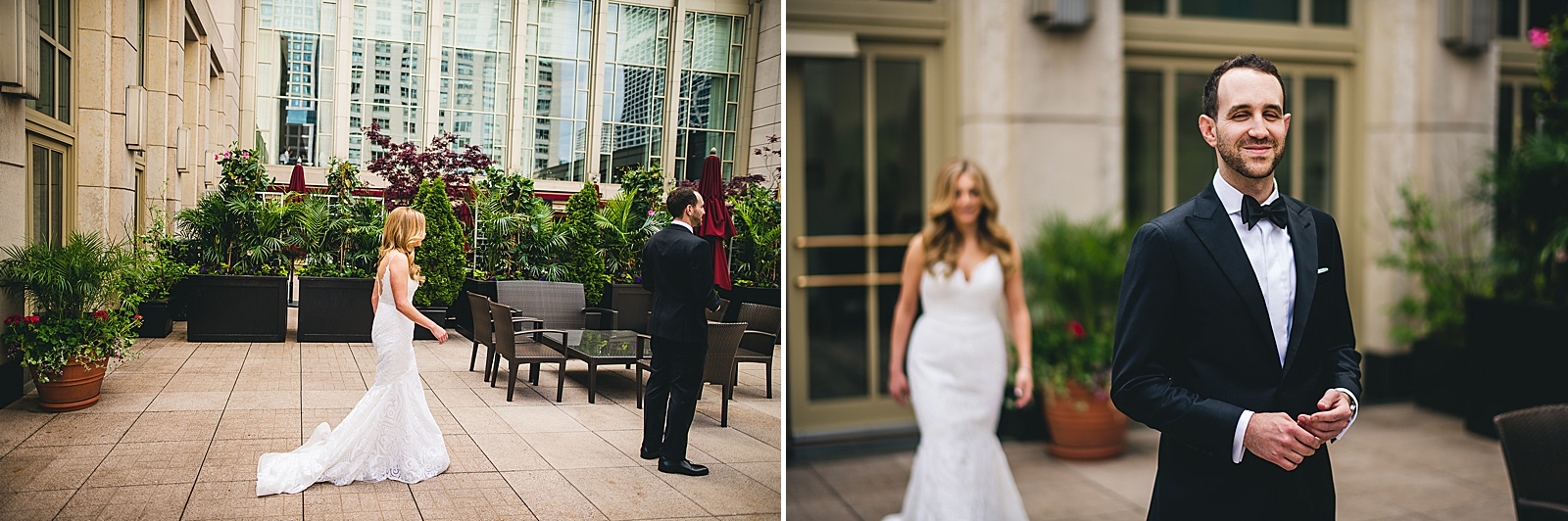 16 first look at peninsula hotel in chicago - Susie + Eric's Jewish Wedding at the Peninsula Hotel in Chicago