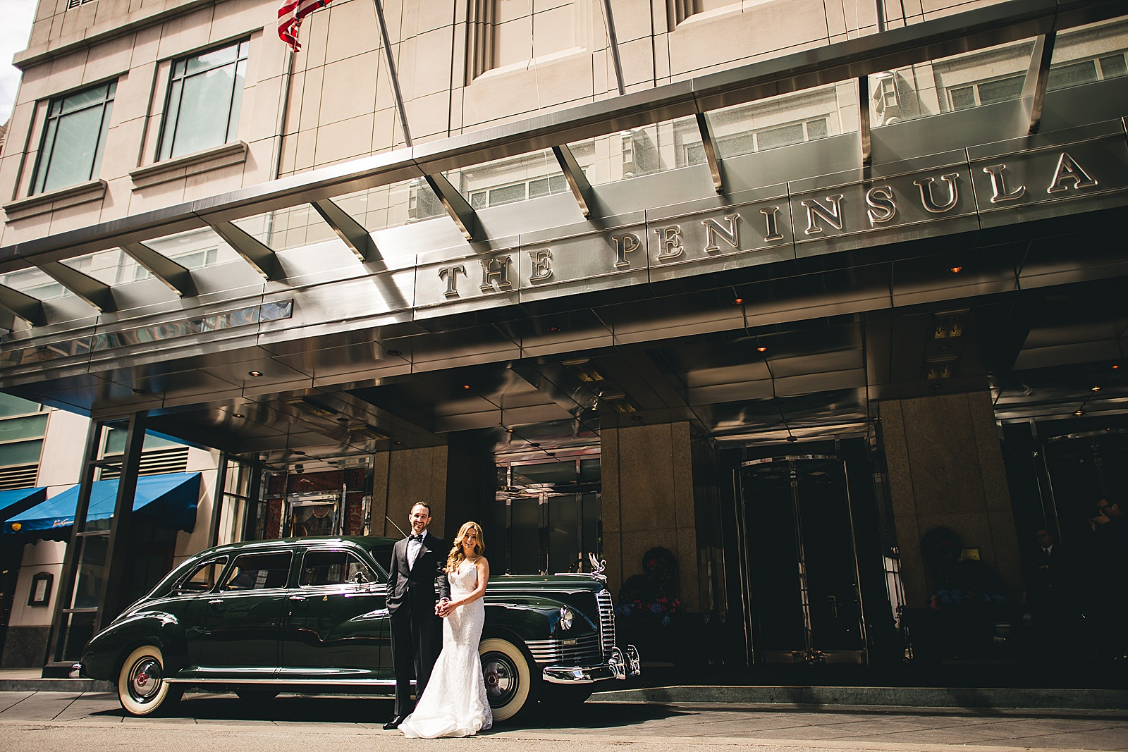 23 amazing car at wedding - Susie + Eric's Jewish Wedding at the Peninsula Hotel in Chicago
