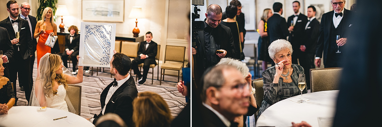 31 emotional katuhab signing in chicago wedding photographer - Susie + Eric's Jewish Wedding at the Peninsula Hotel in Chicago