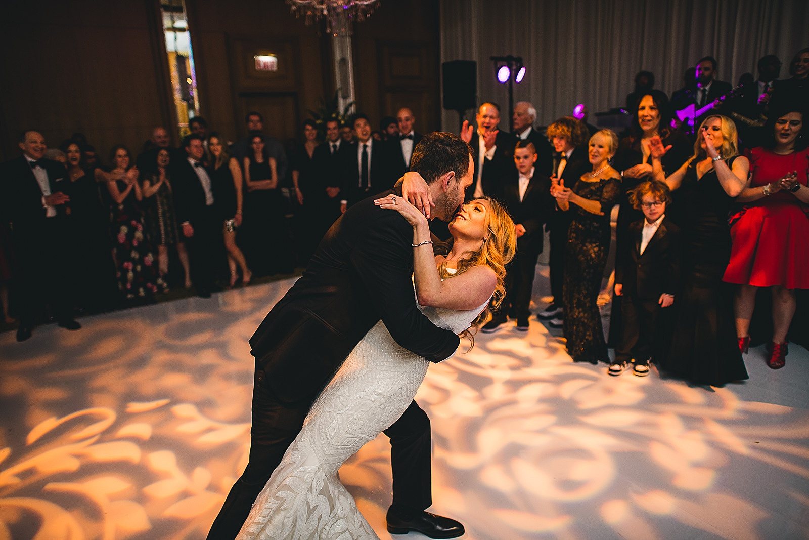 51 dip - Susie + Eric's Jewish Wedding at the Peninsula Hotel in Chicago