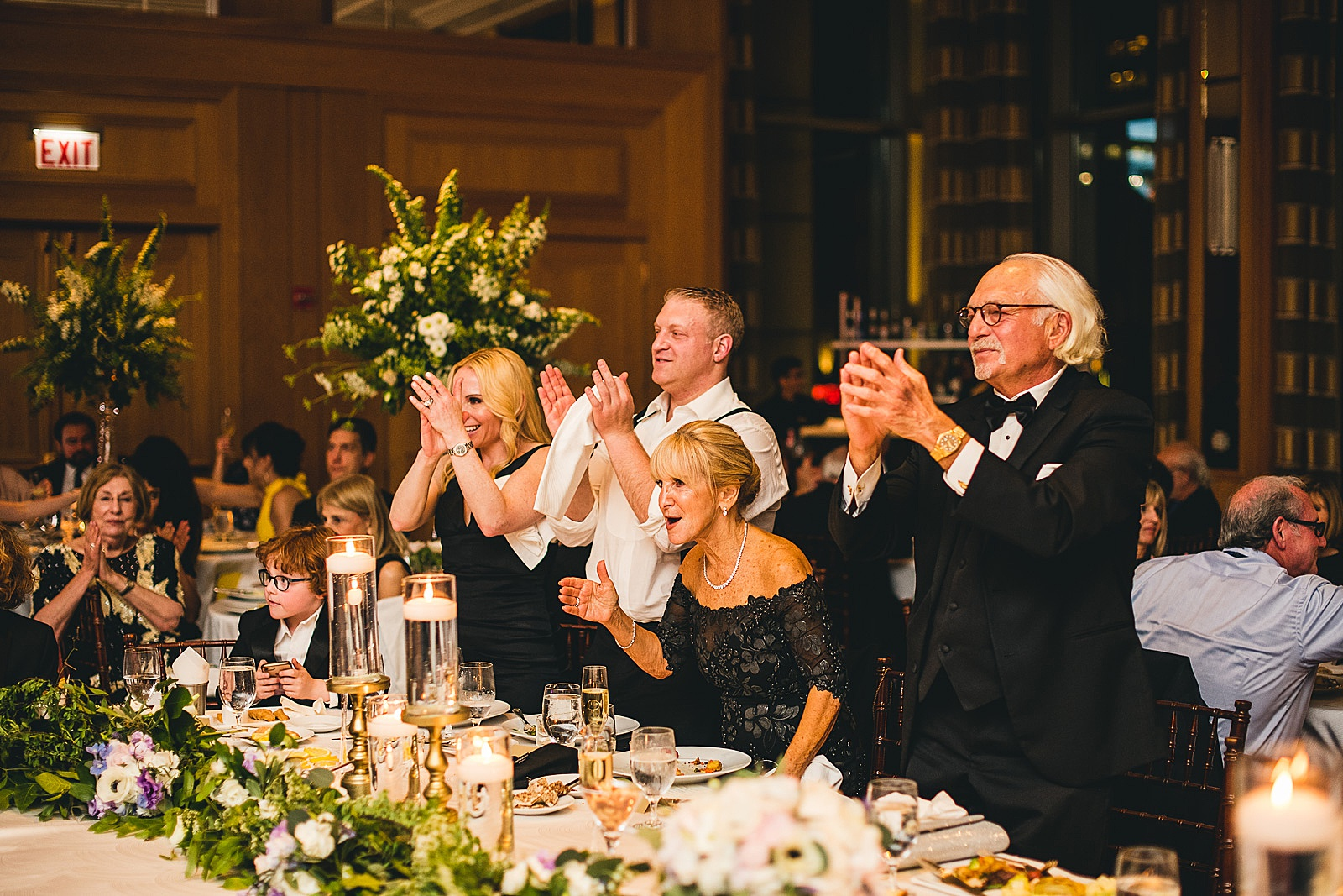 66 stanting ovation - Susie + Eric's Jewish Wedding at the Peninsula Hotel in Chicago