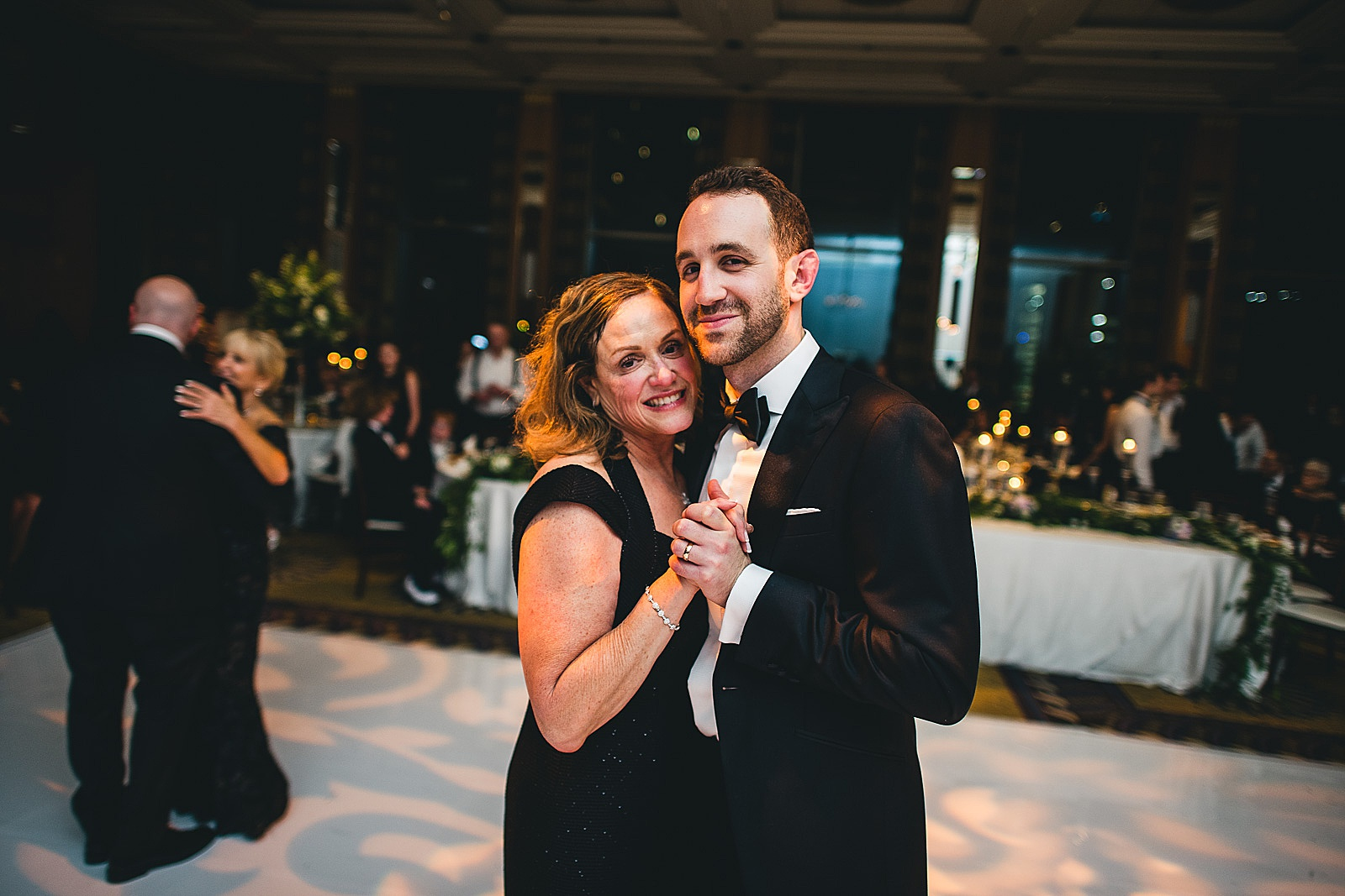 67 mother son dance at wedding - Susie + Eric's Jewish Wedding at the Peninsula Hotel in Chicago