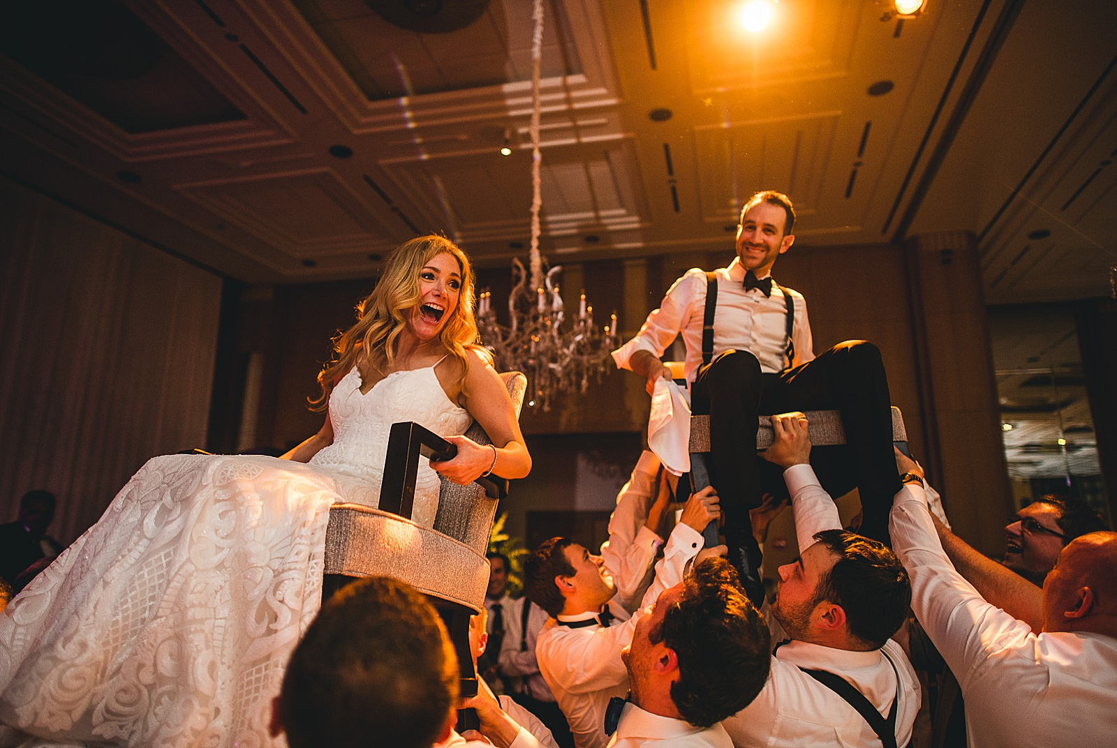 70 jewish hora wedding photos - Susie + Eric's Jewish Wedding at the Peninsula Hotel in Chicago