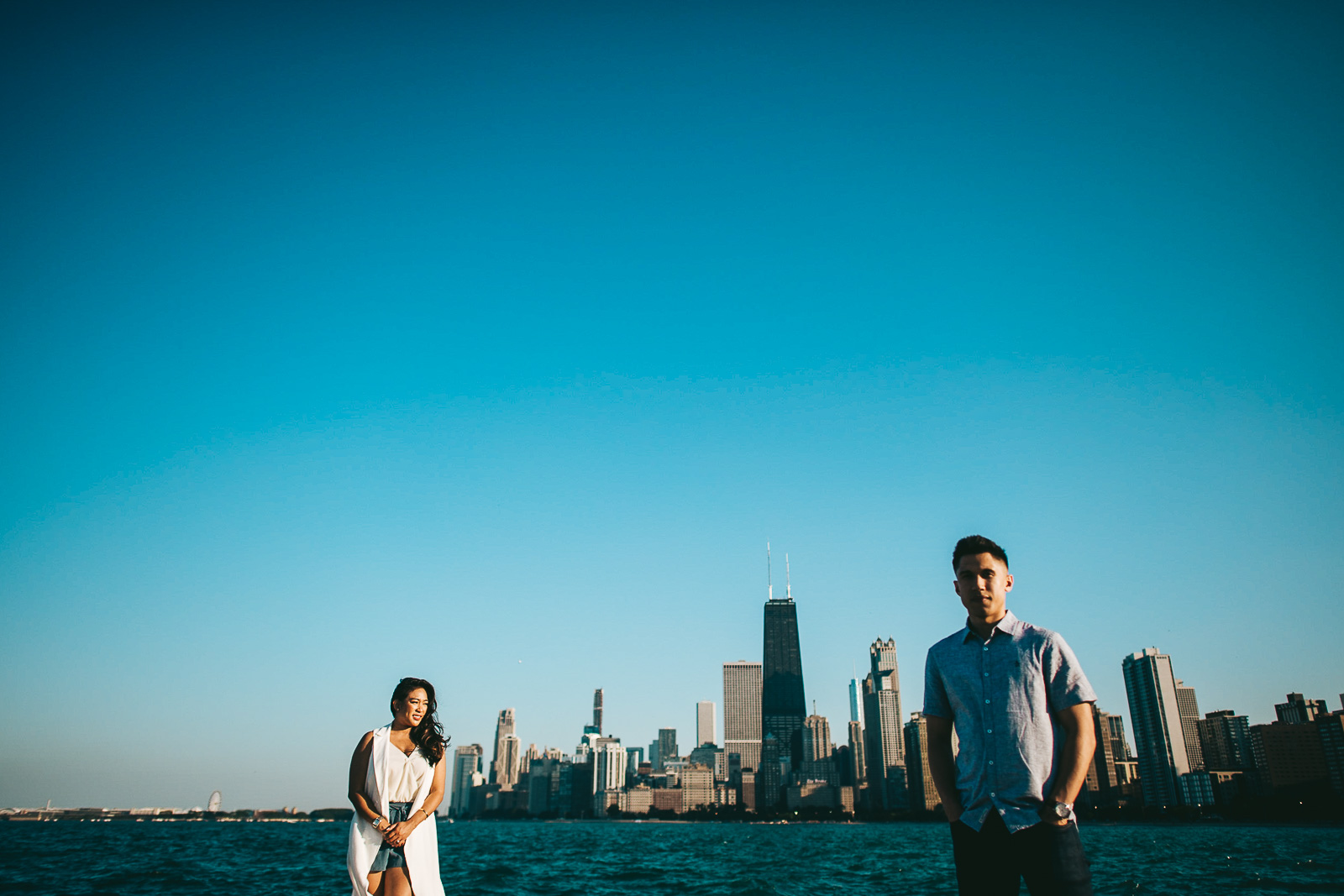 03 chicago engagement photography - Sunset Engagement Photos // Francine + RJ