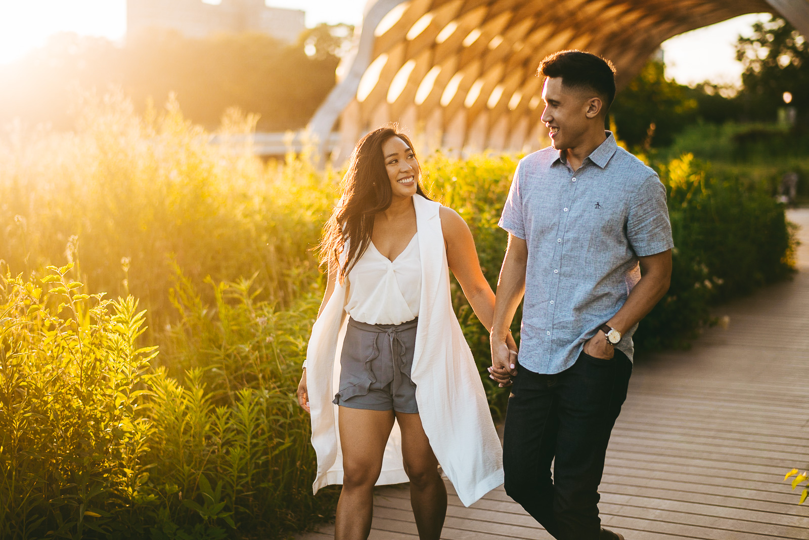 16 smiling at sunest - Sunset Engagement Photos // Francine + RJ