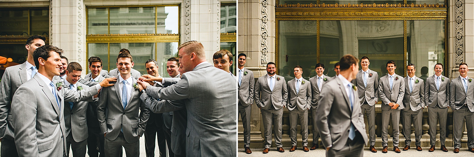 24 groomsmen - Audrey + Jake's Beautiful Chicago Wedding at Chez