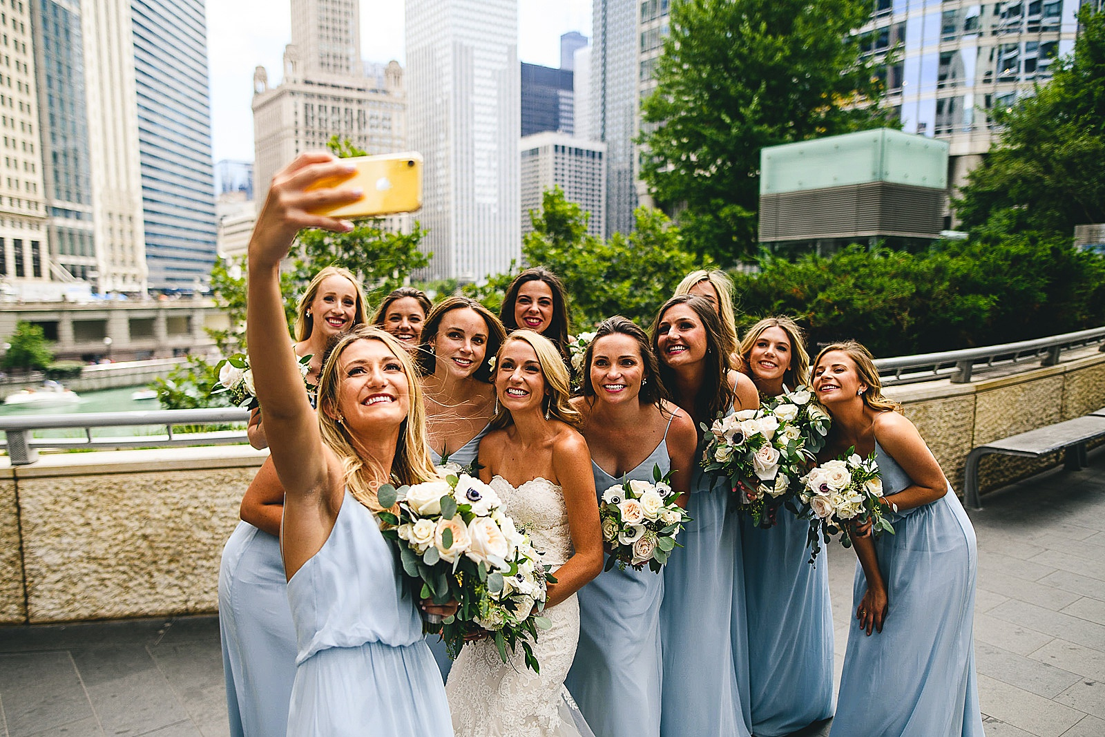 26 fun bridesmaids photos - Audrey + Jake's Beautiful Chicago Wedding at Chez