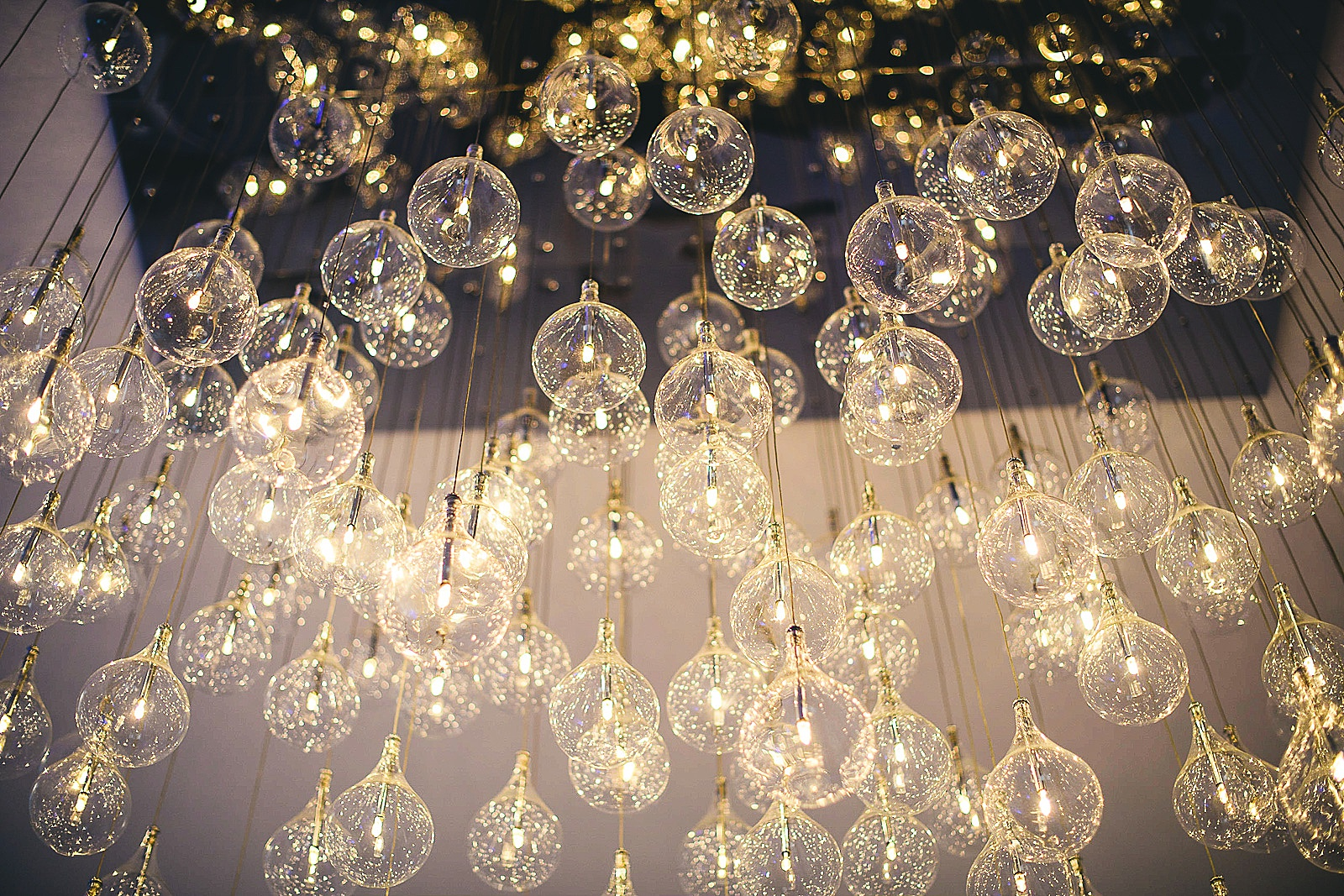 36 lights - Audrey + Jake's Beautiful Chicago Wedding at Chez