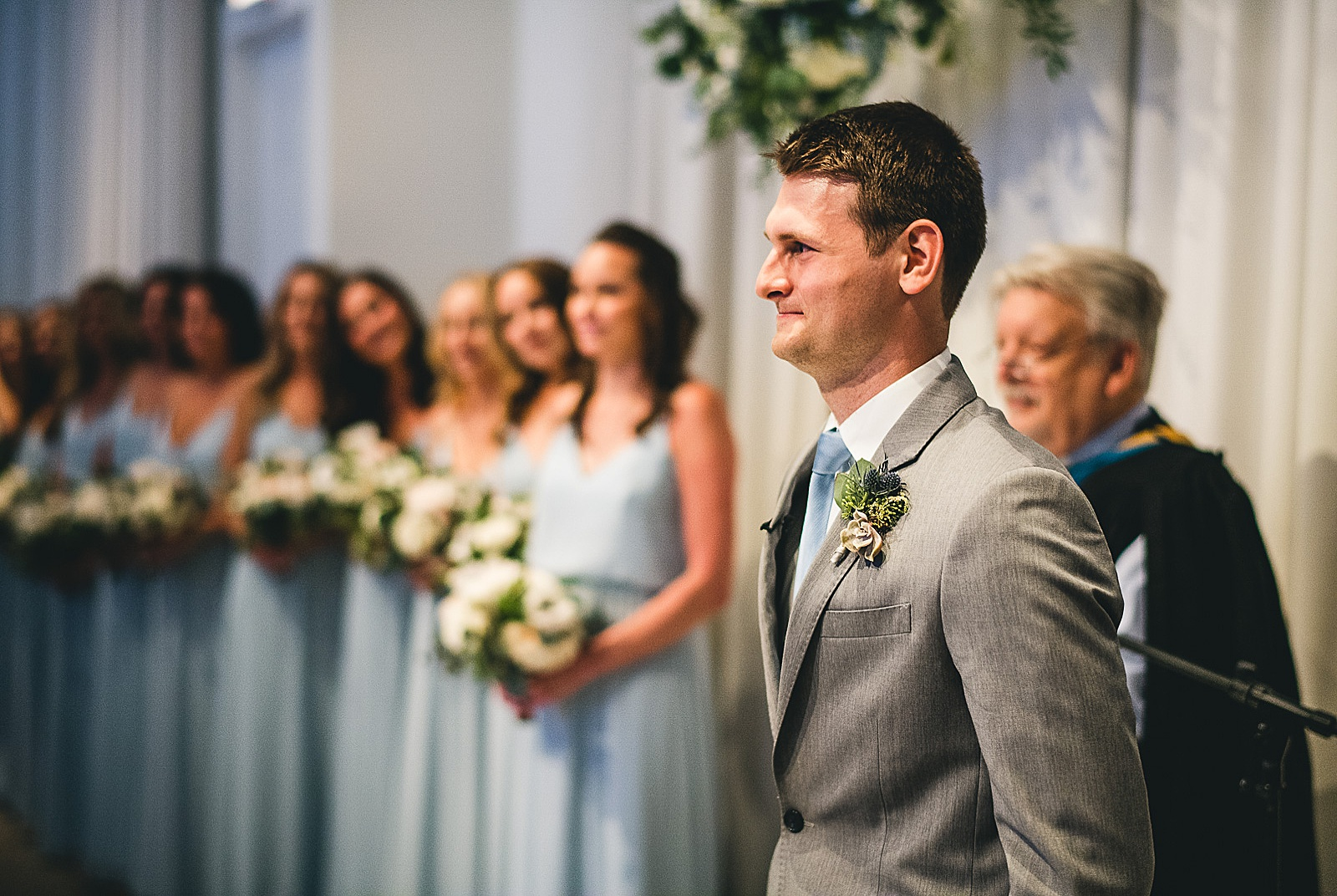 38 groom - Audrey + Jake's Beautiful Chicago Wedding at Chez