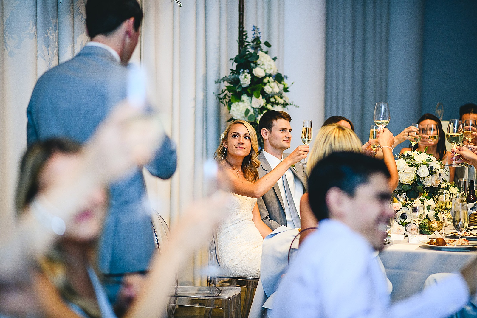 47 cheers - Audrey + Jake's Beautiful Chicago Wedding at Chez