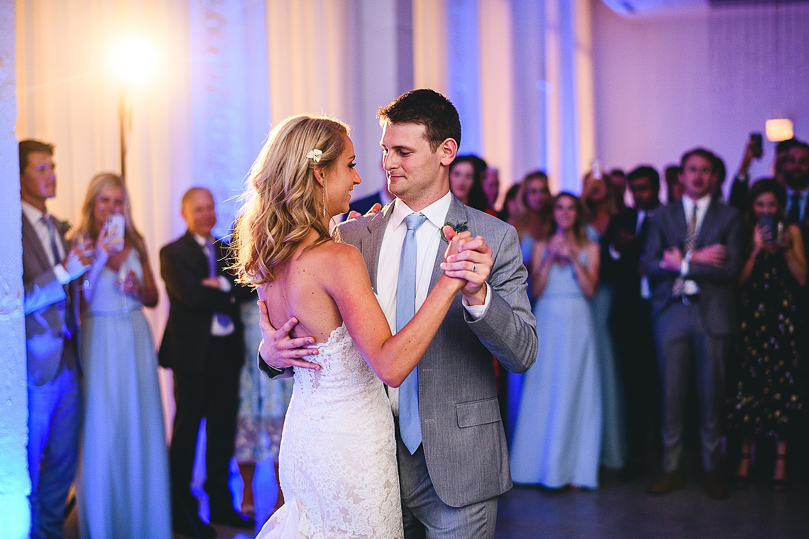 48 first dance bride and groom - Audrey + Jake's Beautiful Chicago Wedding at Chez