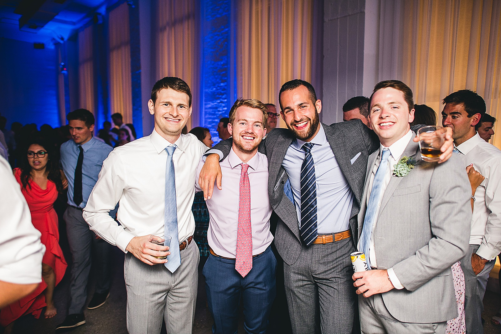 58 fun guys photo - Audrey + Jake's Beautiful Chicago Wedding at Chez