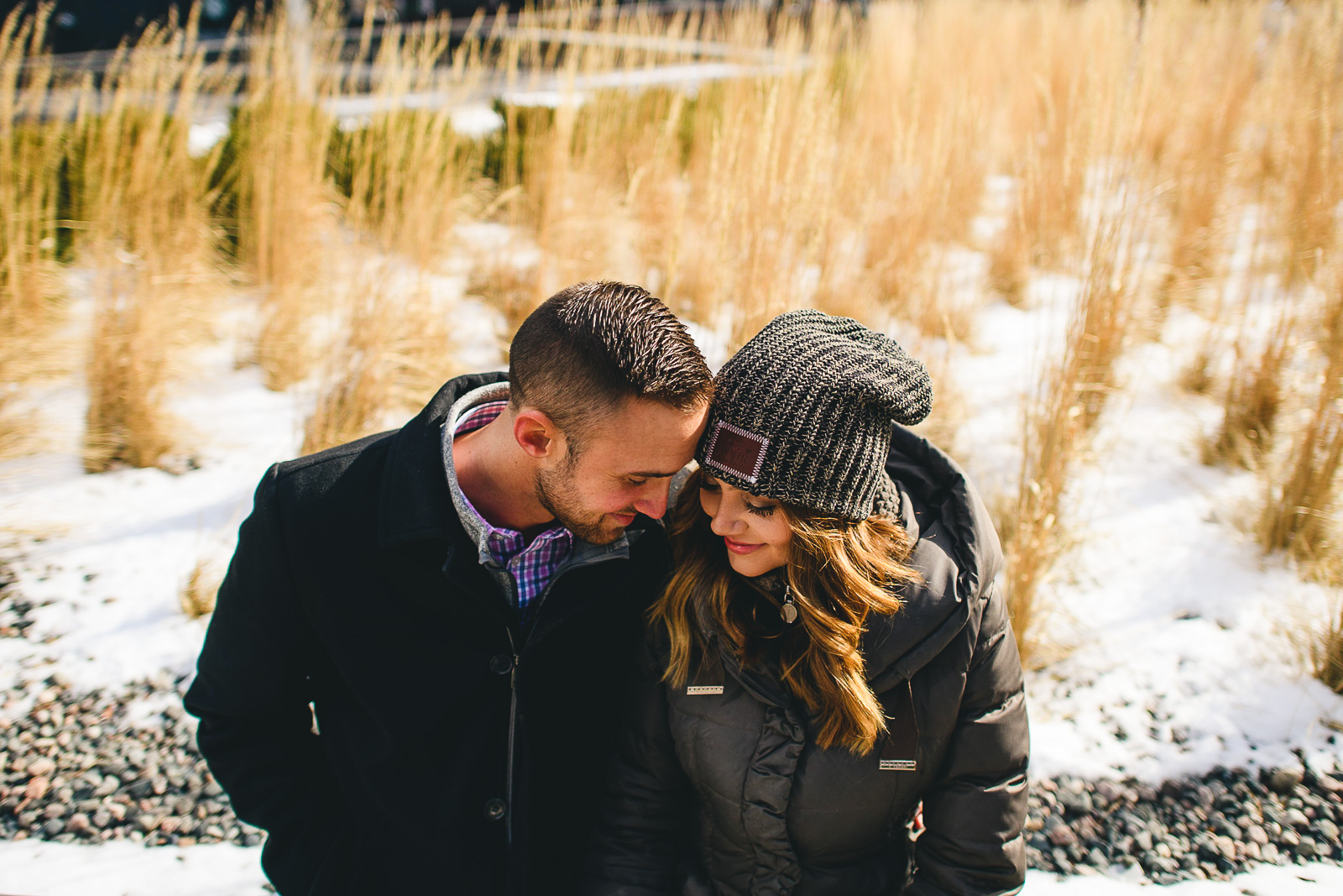 04 creative engagement photos in the winter - Chicago Marriage Proposal // Mark + Jacklyn