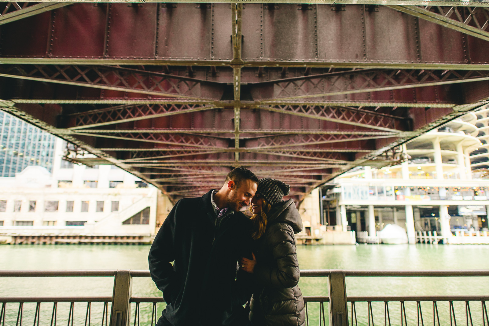 19 under the bridge engagement photos - Chicago Marriage Proposal // Mark + Jacklyn
