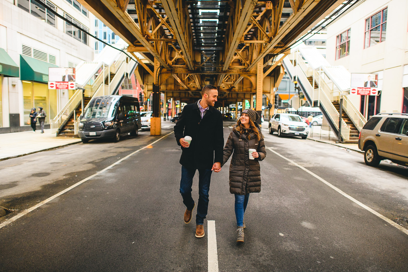 22 engagement photos under the el in chicago - Chicago Marriage Proposal // Mark + Jacklyn