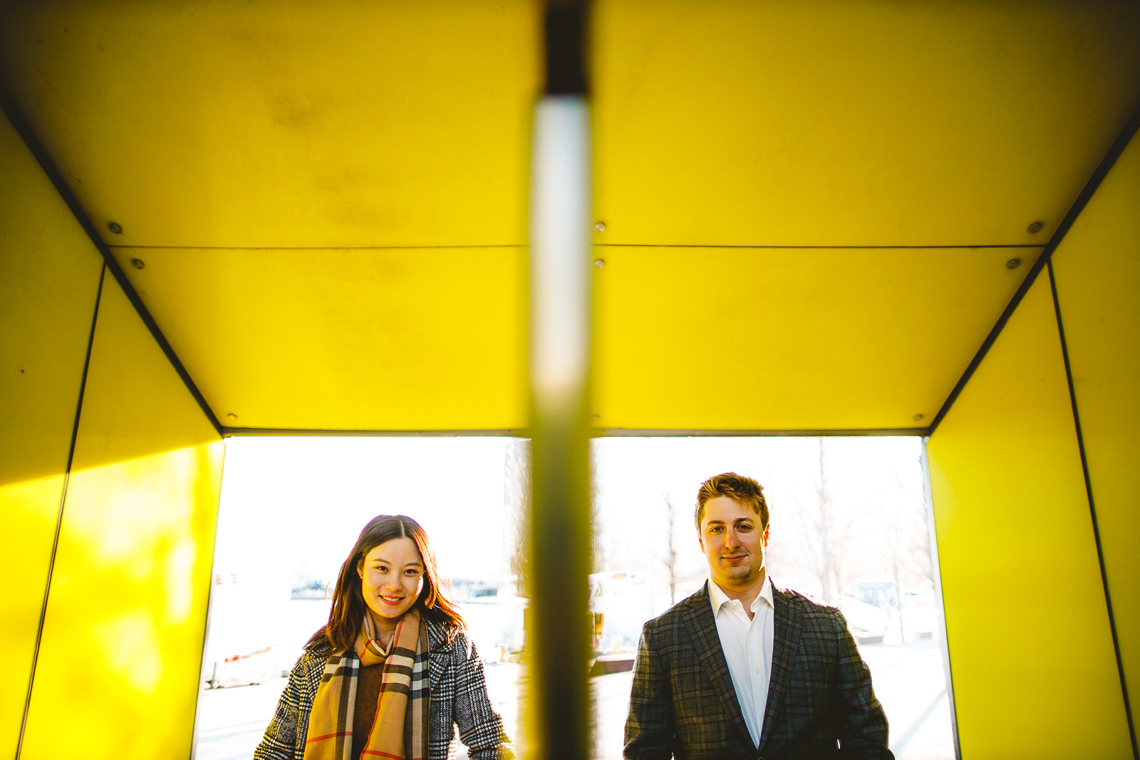 05 creative engagement photos at navy pier - Navy Pier Engagement Session // Tyler + Jing